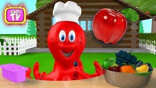 Octopus - Fruit for kids. Learn Fruit -  Animation for kids