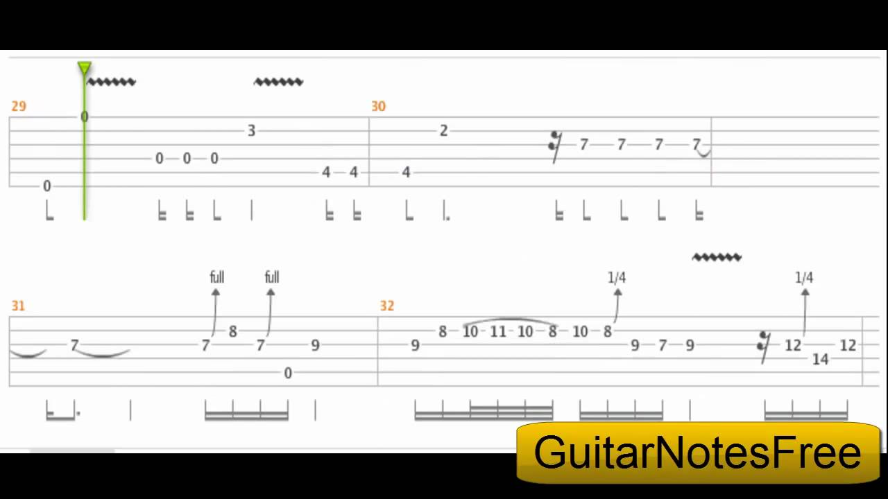 Back In Black - AC/DC Guitar Tab HD - YouTube
