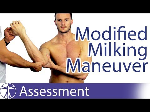 Modified Milking Maneuver | Medial/Ulnar Collateral Ligament Injury