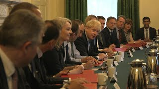 Prime Minister Boris Johnson holds his first Cabinet meeting | AFP