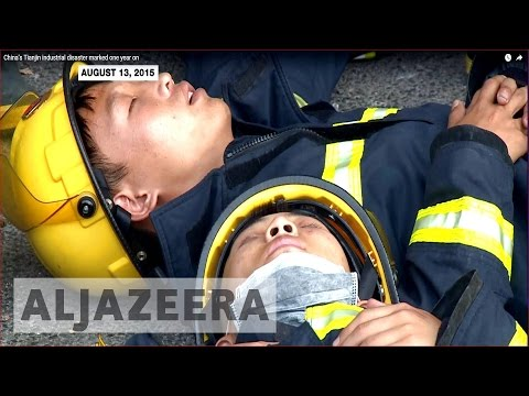 China's Tianjin industrial disaster marked one year on