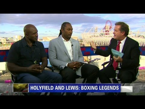 Lewis and Holyfield on their bouts