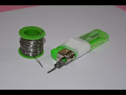 How to Make a Soldering Iron by Lighter