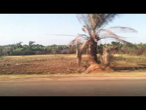 Driving into Marshall, Liberia - John Gbedze Beach Resort