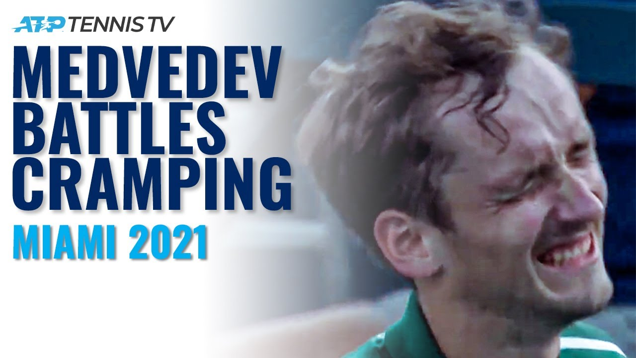 Dramatic Ending As Daniil Medvedev Fights Through Cramping to Beat Popyrin | Miami Open 2021