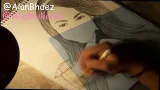 Dibujando a Ale Muller :D