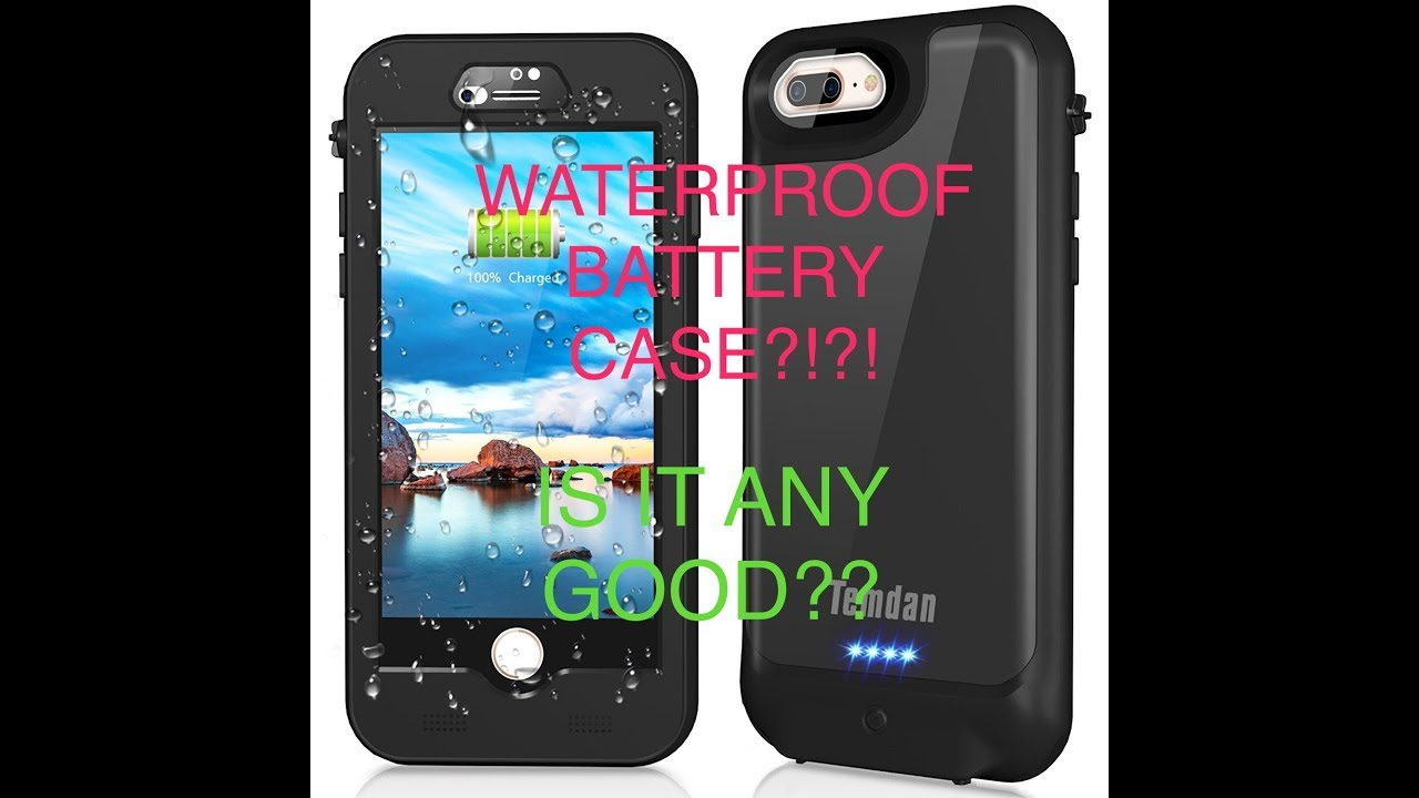 buy popular d9dc6 6c780 Temdan Waterproof Battery Case for iPhone 7/8 Plus [WATERPROOF!!] [EXTENDED  BATTERY!!]