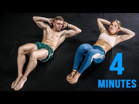 4-Minute AB Workout Everyone Can Do!