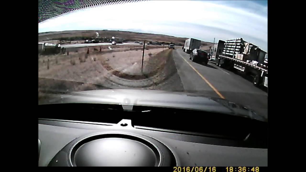CRST Trucking Semi Truck Roll Over Crash I-84 Idaho 6/16/2016 ©bslaws