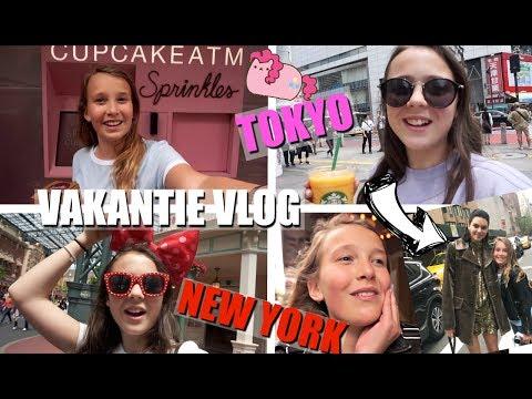 KENDALL JENNER ONTMOET IN NEW YORK!?! EN EEN PAARSE KAWAII HAMBURGER ETEN IN TOKYO? | VAKANTIE VLOG
