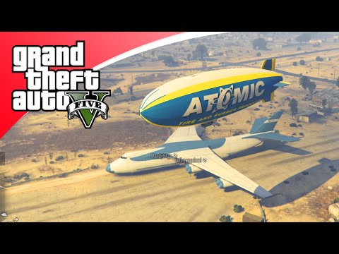 GTA V Freeroam - ZEPPELIN VLIEGEN MET HACKER! (GTA 5 Online)