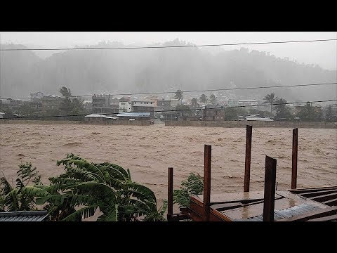Typhoon OMPONG hits BONTOC Mt Province Flooding Chico River