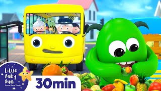 Learn Wheels on The Bus - Monster on the Bus! +More Nursery Rhymes | ABCs and 123s | Little Baby Bum