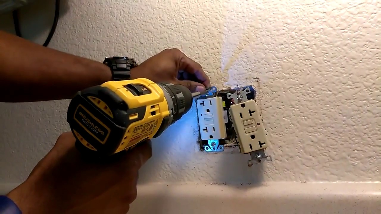 How To Replace Gfci Receptacle With Green Indicator Lights Youtube Wiring A Outlet