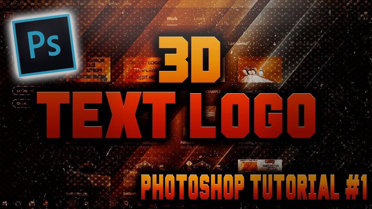 How To Create 3D Text Logo in Photoshop CC [2018]