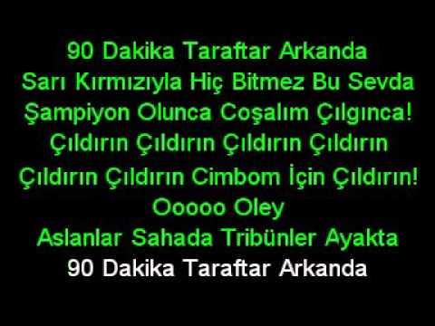 Galatasaray Marşı   Çıldırın karaoke