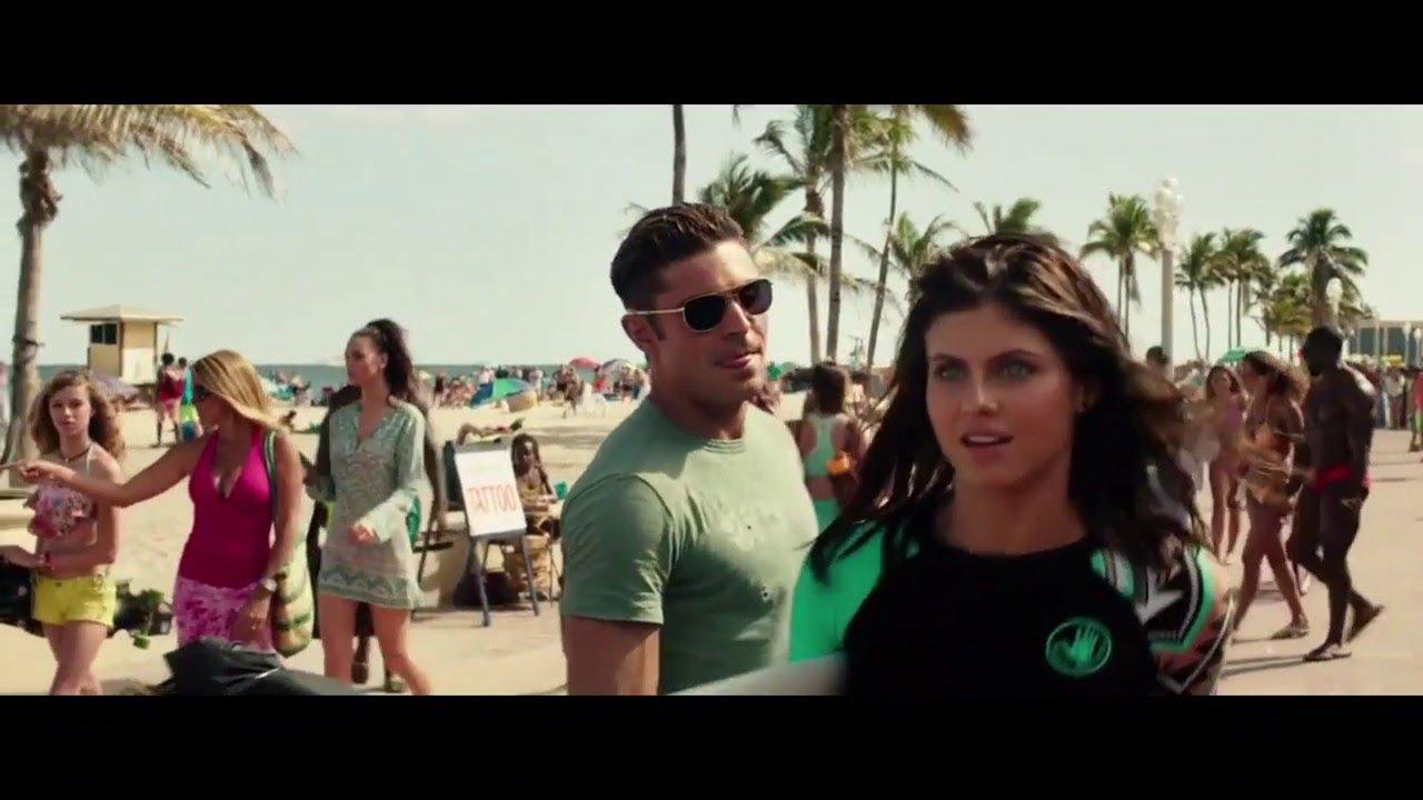 Download Alexandra Daddario and Zac Afron entry scene in HINDI Baywatch