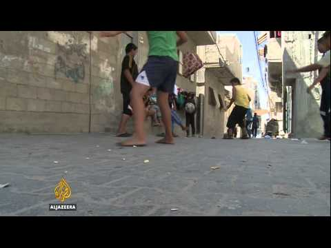 The Middle East's first rooftop football pitch opens in Gaza