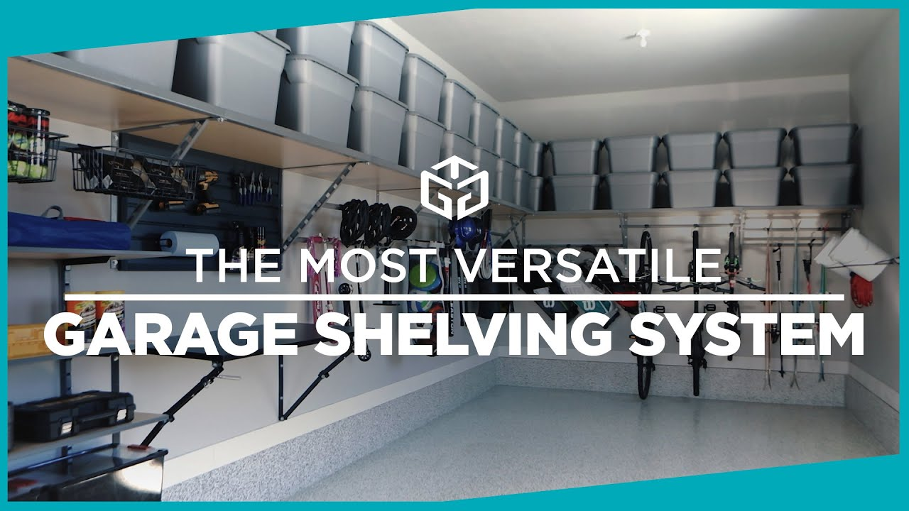 Garage shelving system by monkey bar storage youtube