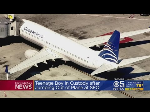 Teenage Boy Jumps Out Emergency Exit Of Plane At SFO