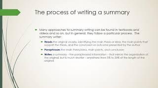 Summary writing – it's a chore!