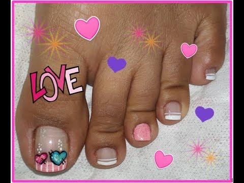 Decoracion De Unas Corazones Heart Nail Art Youtube