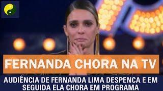 Audiência de Fernanda Lima despenca e em seguida ela chora em programa thumbnail
