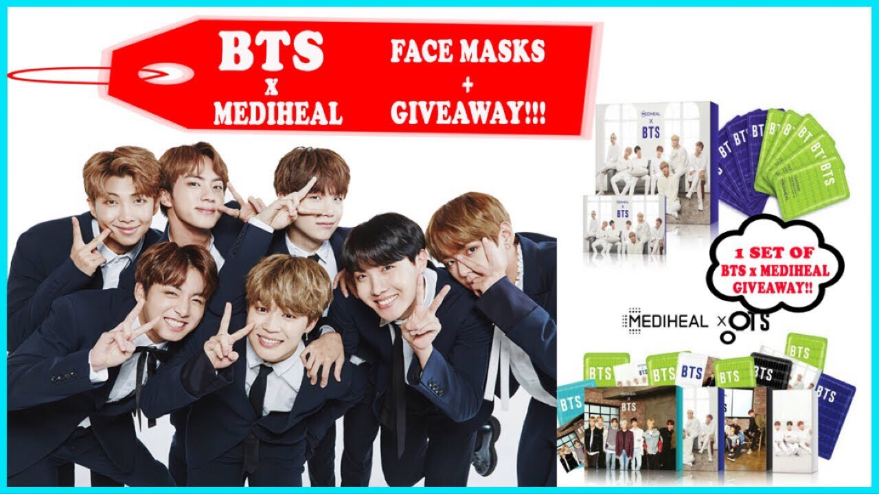 BTS FACIAL MASK COLLECTIONS x MEDIHEAL FACE SHEET MASKS + PHOTOCARDS REVIEW AND GIVEAWAY!