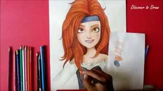 how to draw Tinker Bell and the pirate fairy Zarina from Disney