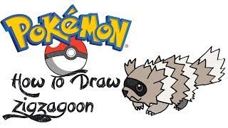 How TO Draw Zigzagoon (POKEMON)