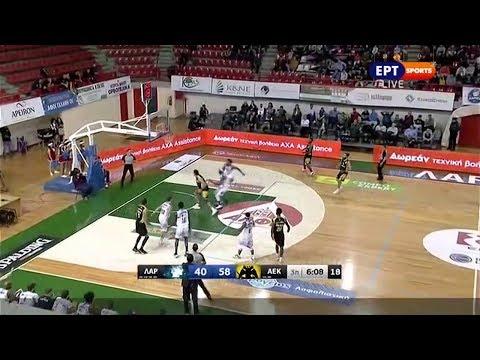 Λάρισα-ΑΕΚ 76-86 Στιγμιότυπα HD 12η Άγ. 22-12-2019