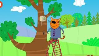 Три кота  Строим домик на дереве  Детские игры