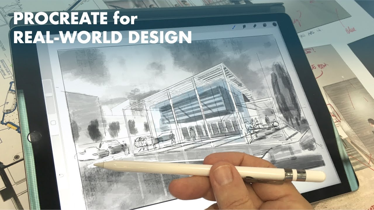 A Real World Architectural Design Charrette With Procreate App And