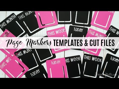 Traveler's Notebook and Planner Page Markers: Digital Die Cut Template and Cut Files