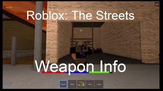 Información de armas #1 [Roblox: Las calles]
