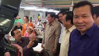Samdech Hun Sen, Cambodian Prime Minister - Visited GIN SOVANN FASHION Cambodia  Limited factory