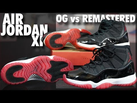 Air Jordan 11 'Bred' 2019 Retro Vs OG Comparison