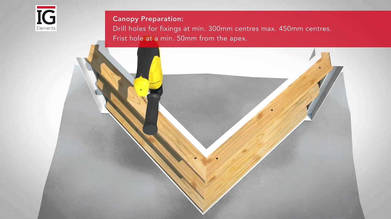 how to install an ig elements apex ready to tile grp canopy