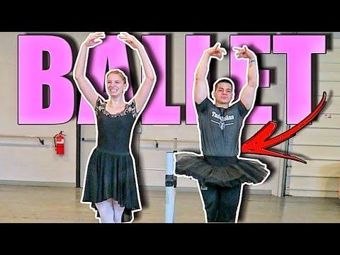 I MADE MY BODYBUILDER BOYFRIEND TRY BALLET! - LEGENDADO