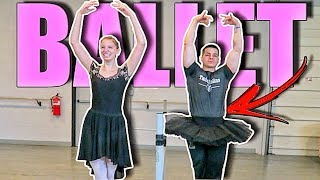 I MADE MY BODYBUILDER BOYFRIEND TRY BALLET! - LEGENDADO