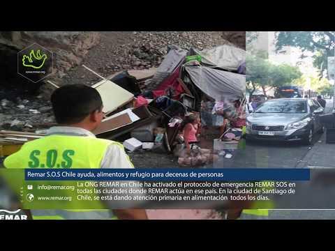 Remar S.O.S en Chile ayuda con alimentos y refugio