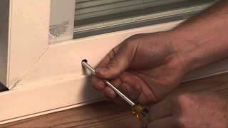 how to adjust vinyl patio door rollers