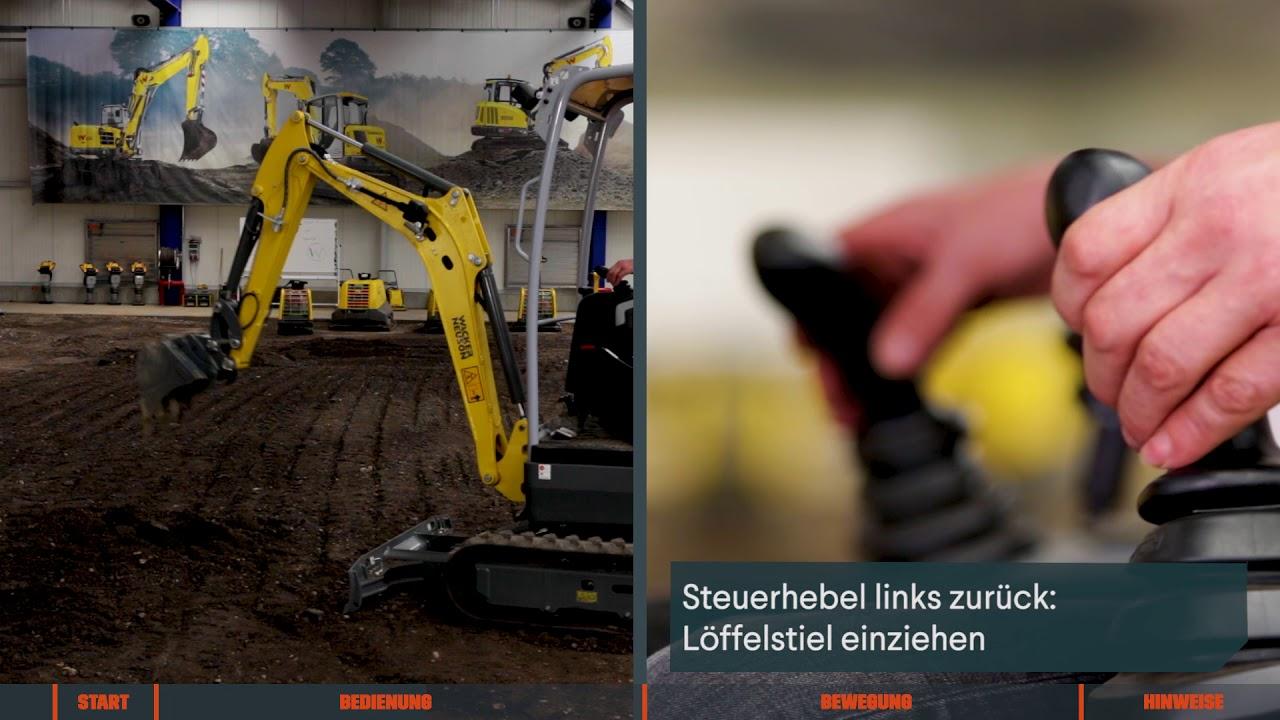 Häufig Minibagger mieten – Bedienung von einem Bagger - YouTube ZX13