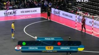 Евро 2012 по футзалу. Хорватия-Украина. Серия пенальти