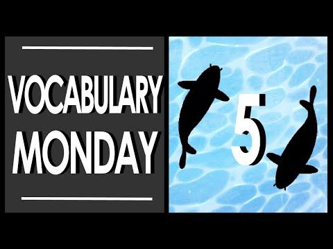 Vocabulary Monday Week 5