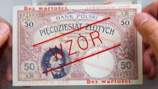 Wzory banknotów polskich - wstępne przybliżenie tematu