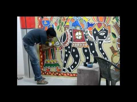 Madhubani Art Work at Patna