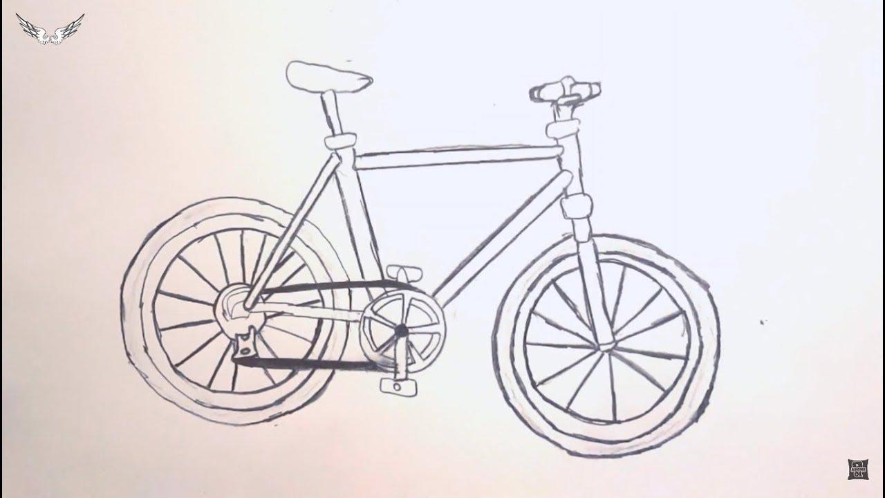 Ekt Karakalem Kolay Bisiklet Cizimi Youtube
