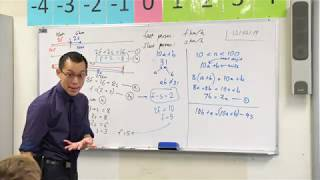 Forming Simultaneous Equations (2 of 2: Two Digit Number)