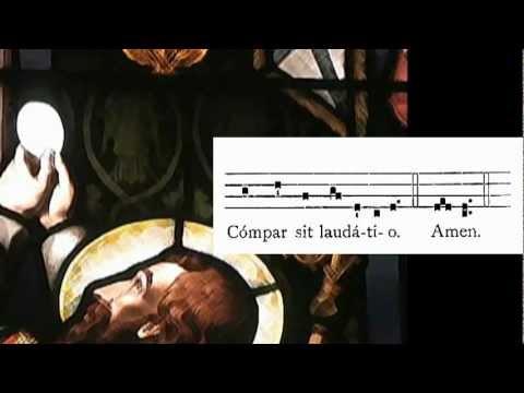 Pange Lingua en Corpus Christi
